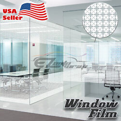 Flower Glass Film Static Cling Office Window Patterned Decoration Privacy #40