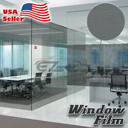 Black Dot Glass Film Static Cling Office Window Patterned Decoration Privacy #42