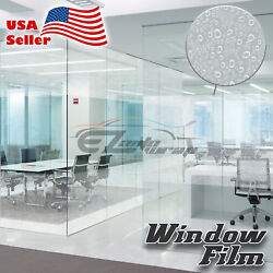 Water Drip Glass Film Static Cling Office Window Pattern Decoration Privacy #39