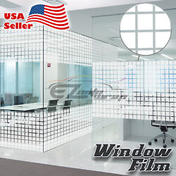 Square Box Glass Film Static Cling Office Window Pattern Decoration Privacy #46