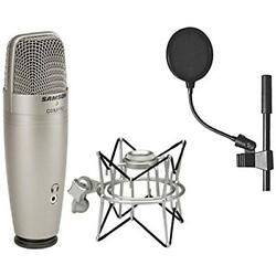 Multipurpose Samson C01U Pro USB Studio Condenser Microphone + SP01 Spider On 4