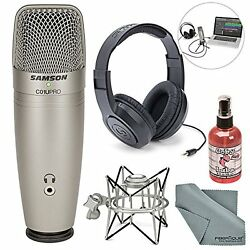 Multipurpose Photo Savings Samson C01U Pro USB Studio Condenser Microphone Shock