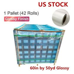 USA 42 Rolls 60in*50yd Glossy Cold Lamination Film (Monomeric 3.15 mil)