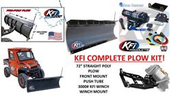 Kfi Polaris And03909-and03910 Ranger 500 Snow Plow Complete Kit 72 Poly Straight Blade