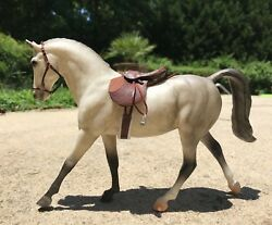 Model Horse Breyer Tack English Saddle CLASSIC 1:12 scale OOAK Real Leather