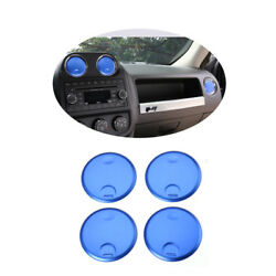 Air Conditioner Vent Decorative Cover Round Trim Fit For Jeep Patraiot 10UP Blue