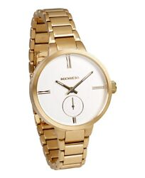 New In Box Rockwell The Kennedy Wrist Watch Gold White Limited Edition Ken-103