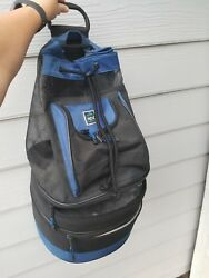 TCL Cool Carry Vintage Cooler Backpack Mesh Bag Zip Straps Tropical Beach