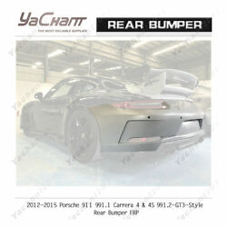 Carbonandfrp Bar For 12-15 911 991.1 Carrera 4 And 4s 991.2-gt3-style Rear Bumper