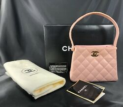 CHANEL Handbag Vintage Pink Quilted Lambskin GORGEOUS!!!!! 7 DIGIT ###