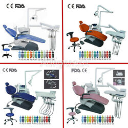 Dental Unit Chair Pu Leather Computer Controlled Dc Motor + Doctor Stool Fda Ce