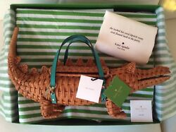 NWT Kate Spade Swamped 3D Wicker Alligator Gator Collector Bag wIth Gift Box