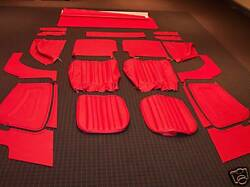Beautiful Deluxe Bright Red Leather Mg Tf Mgtf 1250 1500 Interior Kit New
