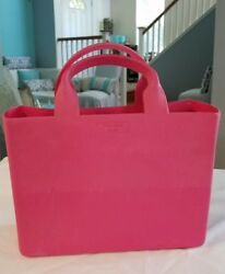 KATE SPADE New York - RARE NEW Quinn Rubber Tote Beach Bag PINK - Made In Italy