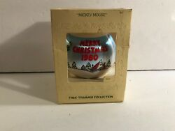 1980 Hallmark Tree Trimmer Collection Mickey Mouse Unbreakable Satin Ornament