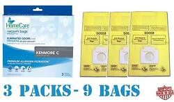 9 Fresh Breeze Kenmore 5055 Canister Vacuum Bags, 9 Pack Of Scented Bags