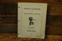 1954 Johnson Rd-15a, Rdl-15a Outboard Motor 25 Hp Parts Manual 376259