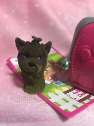 New Puppy In My Pocket Jumper Brown Yorkshire Terrier Dog Series 7 Blind Bag