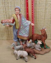 Thomas Kinkade Nativity 5 Figurines Gifts For My King And Gathering In Praise