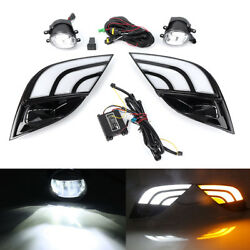 LED DRL Headlights Fog Lamp Turn Signals w Wiring For Toyota Camry SE XSE 2018