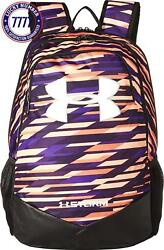 Under Armour Men'S Ua Scrimmage Backpack (Youth) Peach HorizonPurple SwitchWhi