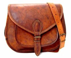 Genuine leather saddle bag gift for girls women satchel shoulder bag small purse