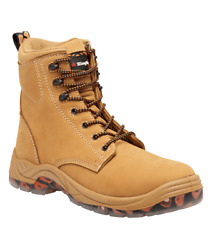 Kinggee Blaze Lace-up Safety Boots Leather Upper Wheat-size Au 4, 5, 6, 7 Or 7.5