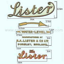 Lister Transfer Set Of 5 Covers Thelister H J K L M N P Q R Cs Cd And Ce