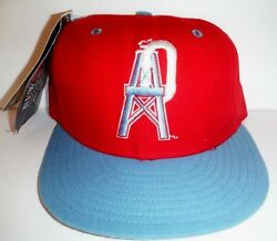 Vintage New Era Houston Oilers 5950 Fitted Size 7 Nwt Hat Titans Texans 59fifty