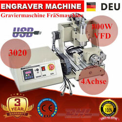 USB Port 3020 4 Axis Engraver Router Engraving Metal Drilling Machine 800W 220V