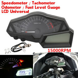 Universal New Led Backlight Motorcycle Speedometer Odometer Tachometer Kmh Clock
