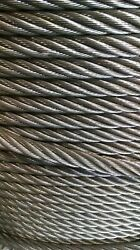 3/4 Bright Wire Rope Steel Cable Iwrc 6x26 800 Feet