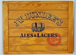 Vintage Jw Dundees Ales And Lagers Beer Rochester New York Slat Wood Sign 24x18