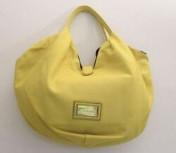 Valentino Yellow Slouchy Lamb Leather Bow Large Soft Hobo Shoulder Bag