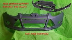 2012 2013 2014 Ford Focus Front Bumper Cover Primed Ready 4 Paint Free Support