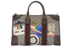 Gucci 459311 Tote Hand Shoulder Bag GG Supreme Duffle Courier Print Used Ex++