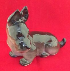 Vintage Porcelain Dog Terrier Figurine. A Collection piece
