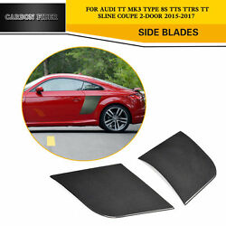 Door Side Blades Fender Factory Fit for Audi TT TTS TTRS 2D 15-17 Carbon Fiber