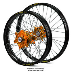 21 Front 18 Rear Black/orange Spoked Wheels Fit Ktm 990 Adventure 2009 2010