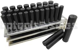 33pc Jumbo Transfer Punch Set 1/2 To 1 Machinist Thread Tool W/ Metal Stand