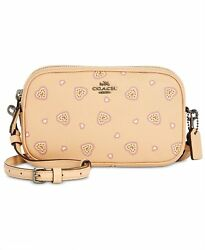 NEW COACH Boxed Crossbody Bag Clutch Beige =4ollowus store=