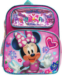 Disney Minnie Mouse 12quot; Toddler School Backpack Girls Canvas Book Bag $19.99