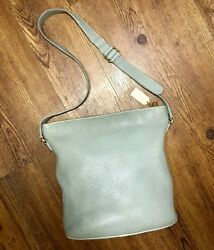 Coach Vintage Sage Green Pebble Leather Sonoma Duffel Bag Large Tote Bucket