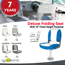 Deluxe Folding Boat Seat With 13 Fixed Pedestal