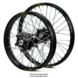 17 Front 17 Rear Black Supermoto Wheels Fit Honda Africa Twin Crf1000-l 2018