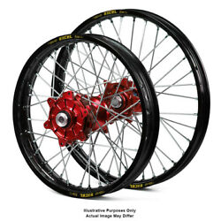 17 Front Rear Black/red Motard Wheels Fit Honda Africa Twin Crf1000l 2015
