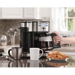 Dorm Coffee Espresso Maker Two Ways Brew Single Cup Programmable Timer