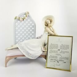 Signed Lladro Garden Of Dreams Porcelain Figurine 7634 With Box And Coa
