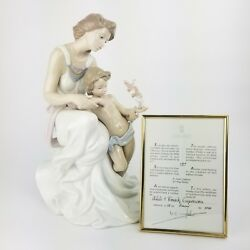 Signed Limited Edition Lladro Where Love Begins 7649 With Coa And Box Mint
