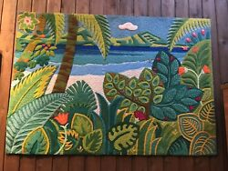 One Of A Kind Rug Wall Art Hand Made By Artist Jean Guillermet In Costa Rica